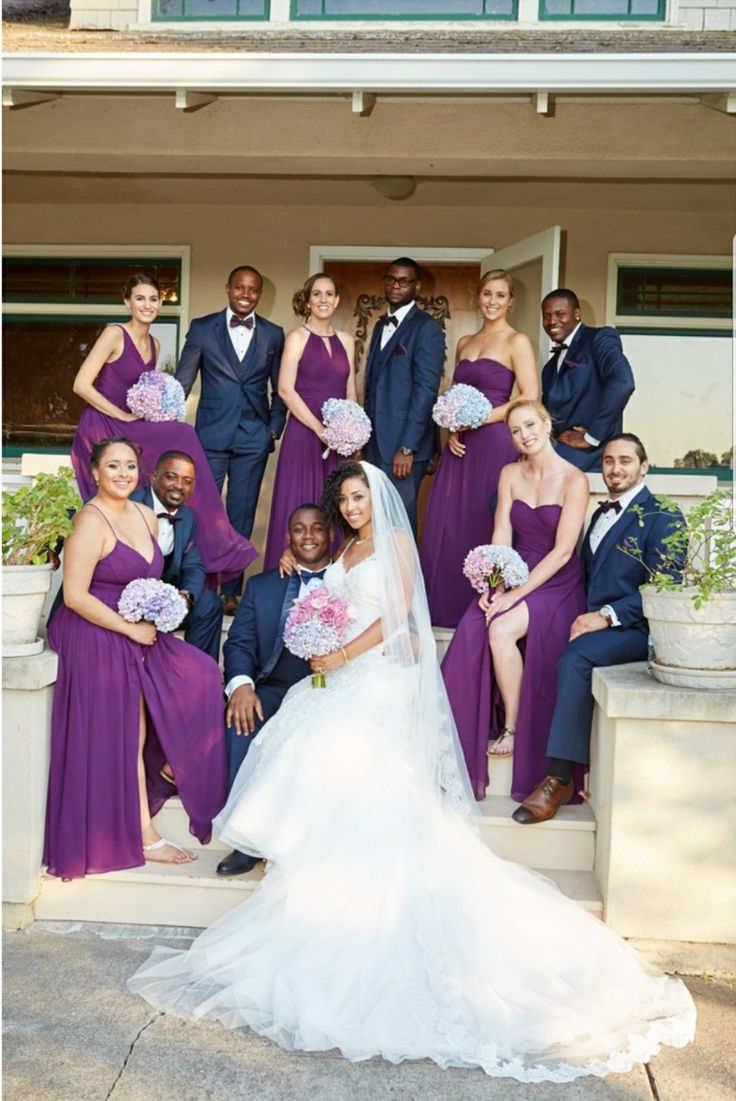 Navy Blue and Wine Purple Wedding Bride  RK Bridal