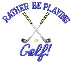Playing Golf machine embroidery design from embroiderydesigns.com