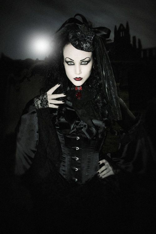 Lady Amaranth  For the December issue of Lipstick Royalty.Shot on location in Whitby during the Goth weekend.