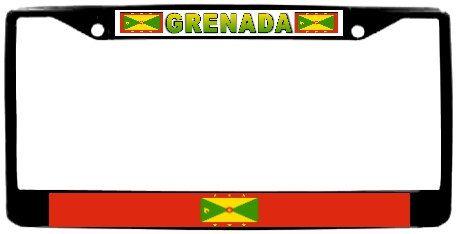 Grenada Flag Metal License Plate Frame Holder Chrome by BlingSity, $18.95