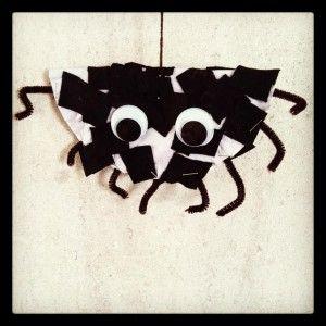 Spin maken uit kartonnen bordje