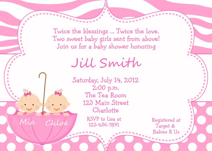 10 best Very Best Twin Baby Shower Invitations Ideas images on - baby shower invitation