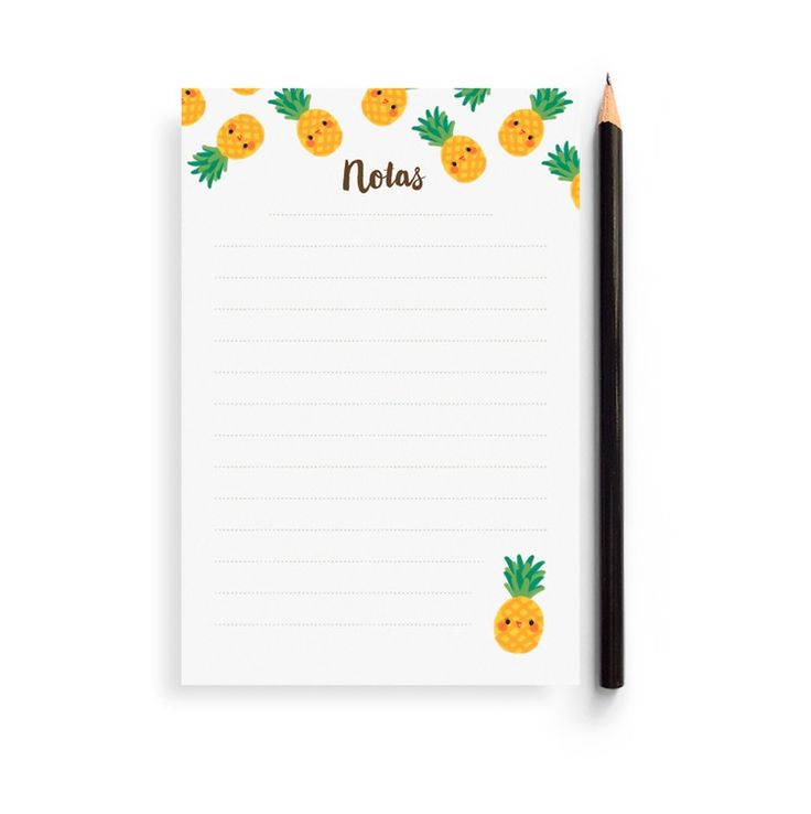 Pineapple Note Pad for my Painapol by Charuca.