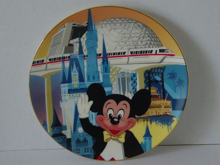 Walt Disney World 1971-1986 15 Anniversary Commerative Plate Limited Edition USA