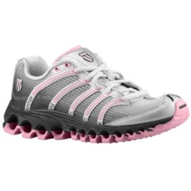 pink and gray k swiss shoes