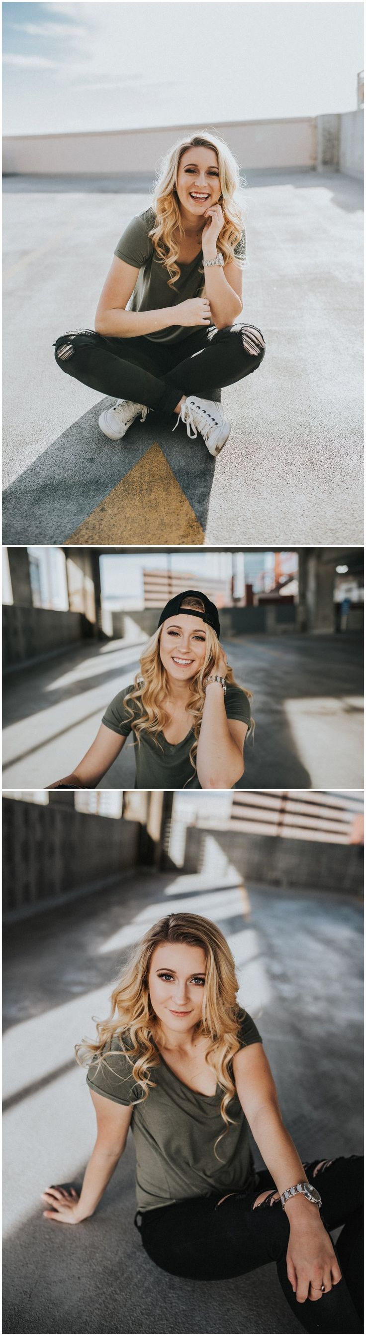 Boise Idaho Senior Portrait Photographer // Downtown Boise // Parking Garage // Urban Senior Pictures // Fall Senior Picture Inspiration outfit ideas // Senior Posing Inspiration // Senior Girl // Makayla Madden Photography