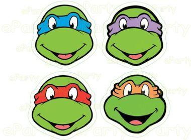 Ninja Turtles Centerpiece Labels Stickers