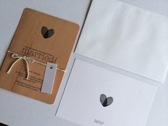 Timber Wooden Rustic Wedding Invitation Custom by MintConfetti, $4.50