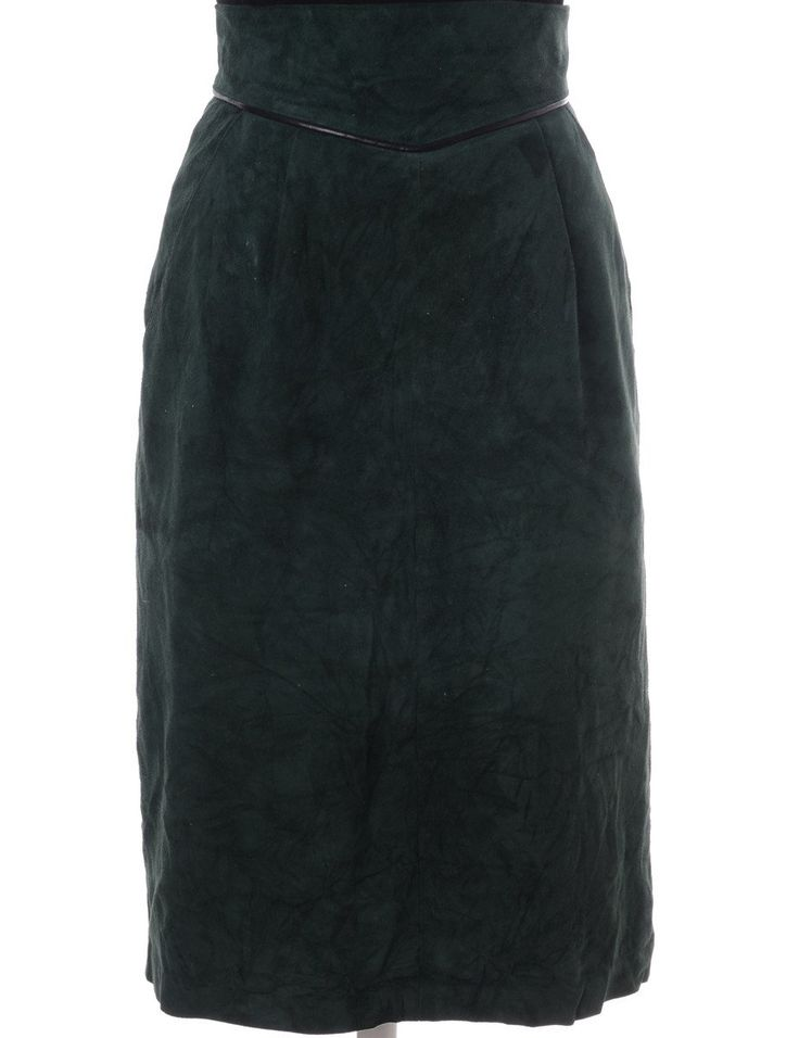 Vintage Midi Skirt Dark Green With Loop Buttons