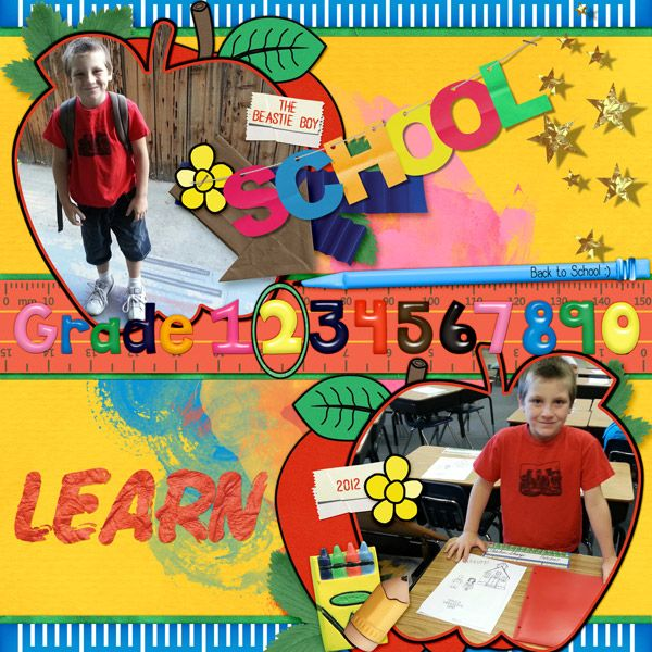 Layout by smikeel. Kit: Back to school by Scrapbird Designers http://scrapbird.com/kits-c-446/scrapbird-collab-c-446_113/back-to-school-p-18246.html
