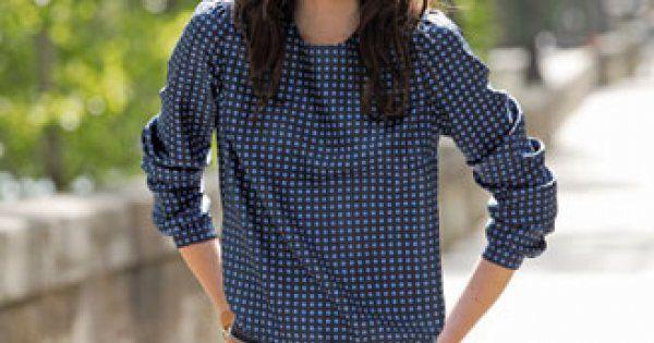 Claudine, lavallière ou cravate, on change de col et on l'adapte à une jolie blouse ras de cou.