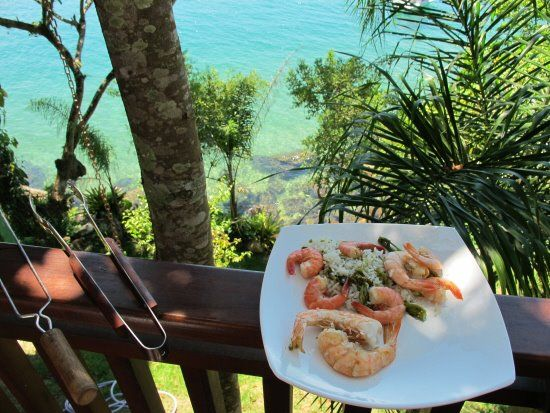 Speciality prawns cooked over a beautful seaside BBQ at Casa Caircuc #Brazil #hotel