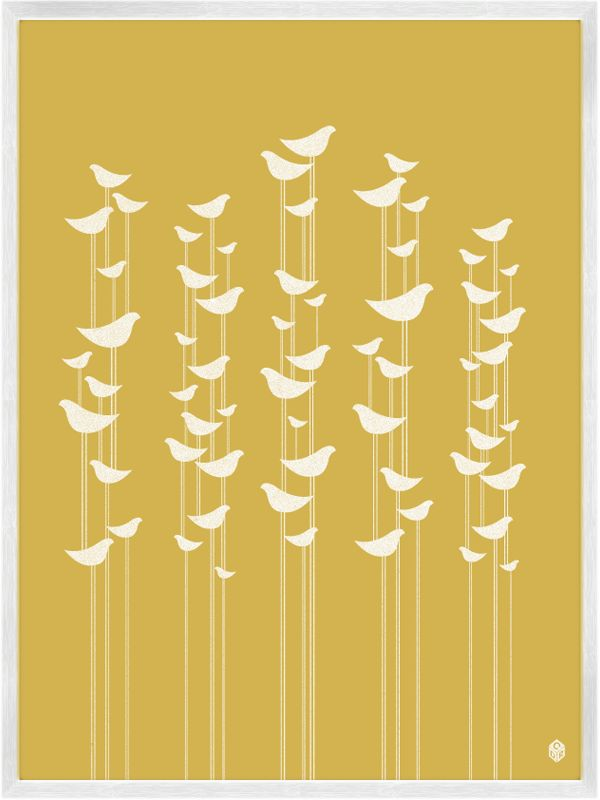 Birds Print, designed in the mind of CDR  • Museum grade archival digital print   • 100% cotton, Giclee paper   • 9 x 12 Inches or 18 x 24 Inches   •Unframed    • Printed in the USA  $18.00