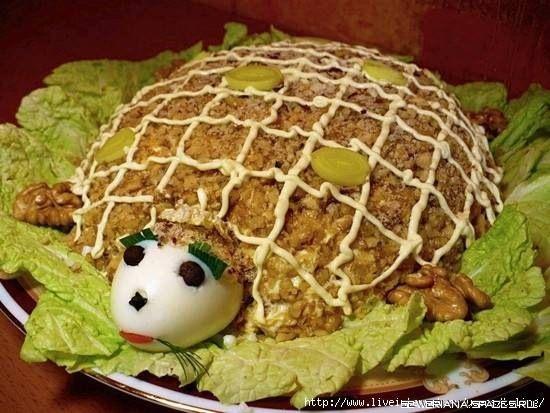 Рецепт салат ветчина, маринованные огурцы
