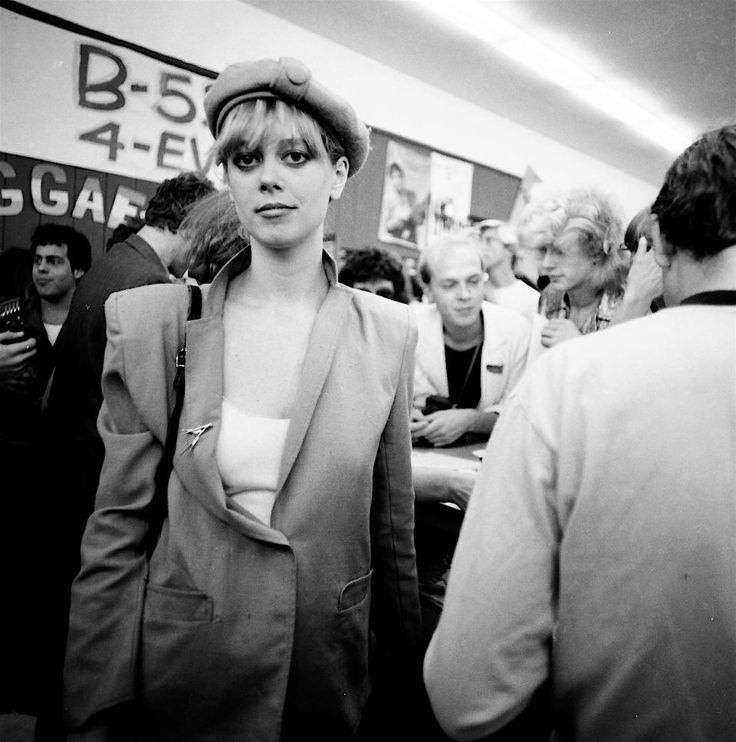 """harder-than-you-think: """" Cindy Wilson and Kate Pierson at a record store in…"""