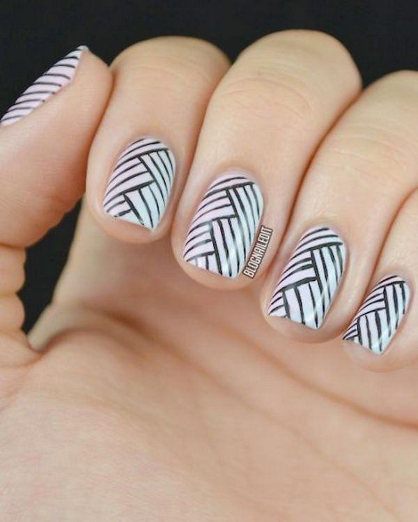 Cool Stripe Nail Designs, http://hative.com/cool-stripe-nail-designs/,