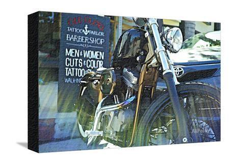 Harley Davidson at Old Glory Tattoo Parlor Fotodruck von Steve Ash bei AllPosters.de