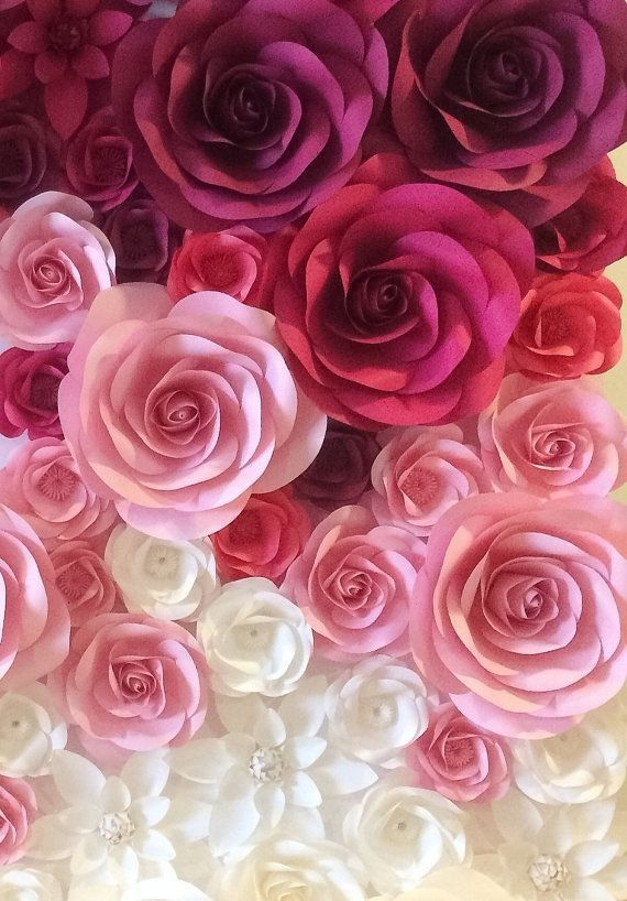 Floral Aesthetic Nature Paper Flowers Paper Flower Backdrop