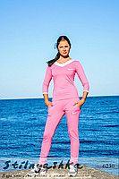 Женский костюм Найк толстовка с зауженными штанами розовый 6230