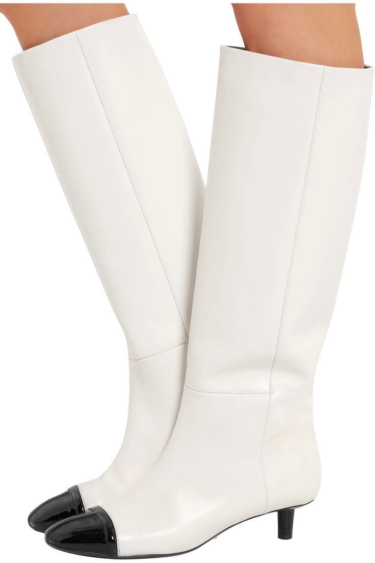 Shop on-sale TOM FORD Two-tone matte and patent-leather knee boots. Browse other discount designer Boots & more on The Most Fashionable Fashion Outlet, THE OUTNET.COM