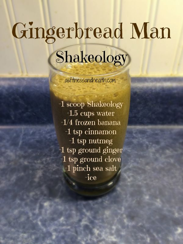 Try out this Gingerbread Man Shakeology recipe! Super simple, packed full of nutrition, and is a perfect healthy holiday smoothie/shake treat! Add me on Facebook.com/angelinerstetzko to get a new recipe every Thirsty Thursday!