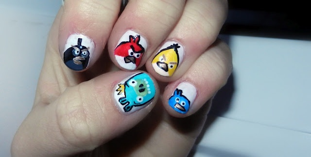 angry birds nails.