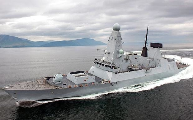 The Type 45 destroye HMS Dauntless is the most advanced anti-aircraft and anti-ballistic ship in the world equipped with 48 Sea Viper missiles and the Sampson radar, which is more advanced than Heathrow air traffic control