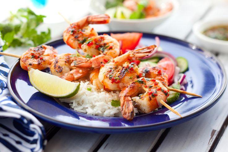 La liste des ingrédients nous fait saliver! Les crevettes, c'est toujours gagnant!