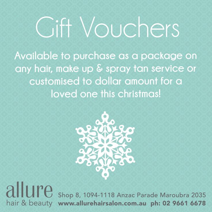 Gift Vouchers available, we can customise it to suit the ideal gift or available to a dollar amount!