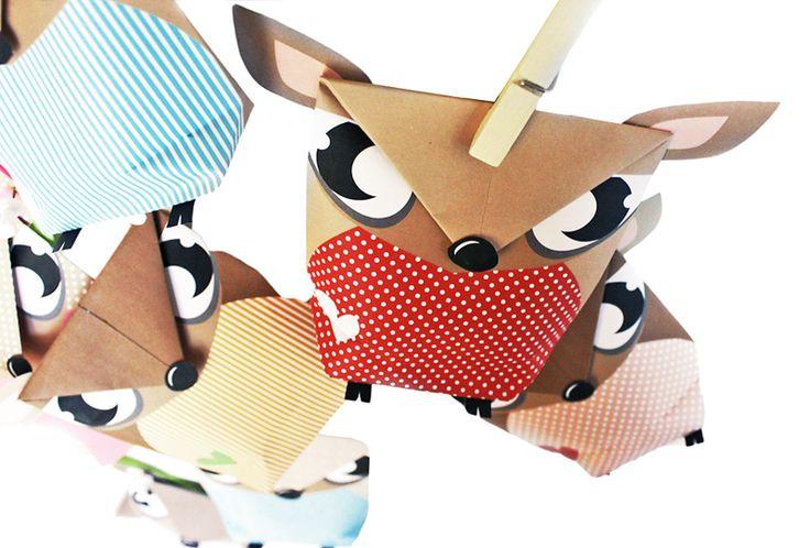 DIY - Adventskalender - REHE mit Tüten - DRUCKEN von grafikboutique auf DaWanda.com