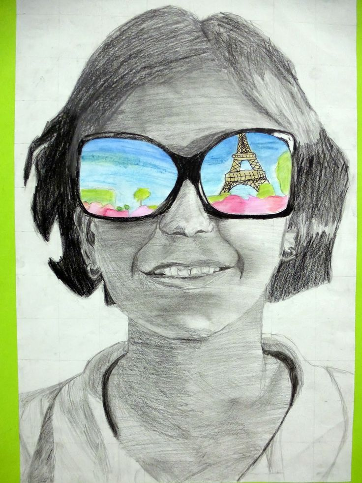 "The 7th Graders have finished their ""Shades of Summer"" self portraits this week and I think they are amazing! Before we began the project, s..."