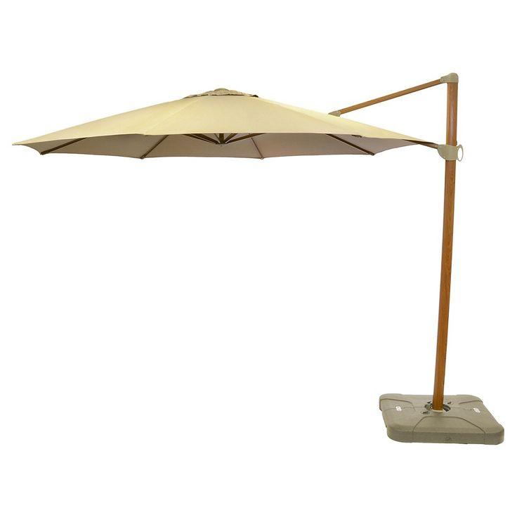 11' Offset Sunbrella Umbrella Canvas Heather Beige