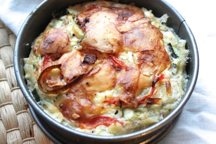 Een slanke hüttenkäse quiche met weinig koolhydraten maar wél boordevol groenten en eiwit!