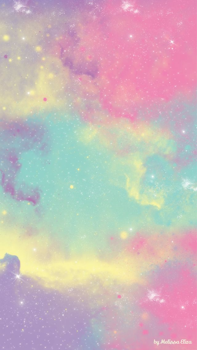 Pastel colorful galaxy iPhone wallpaper
