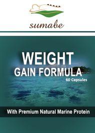 Sumabe Weight Gain Formula with premium natural marine protein, 60 capsules