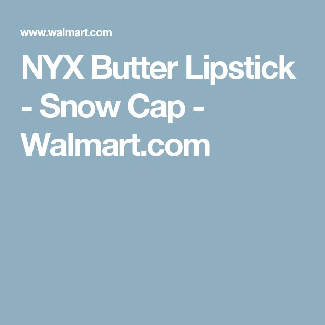 NYX Butter Lipstick - Snow Cap - Walmart.com