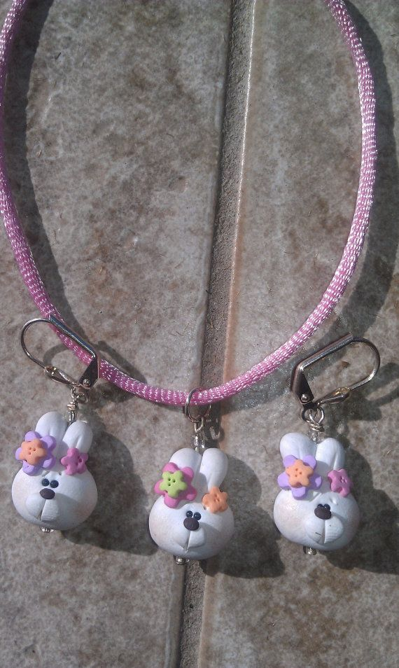 Children's Polymer Clay Easter Bunny by LisaCrystalCreations