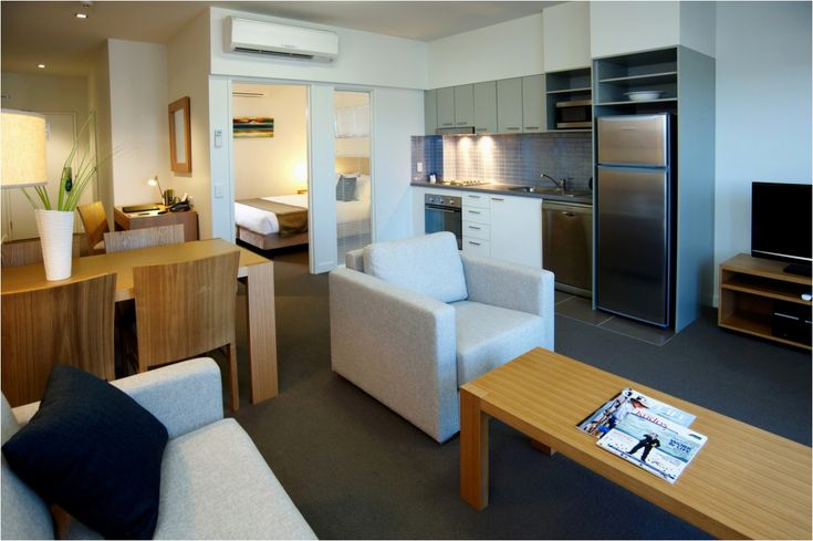Apartments Mit Einem Schlafzimmer Ideen um die Mitte des