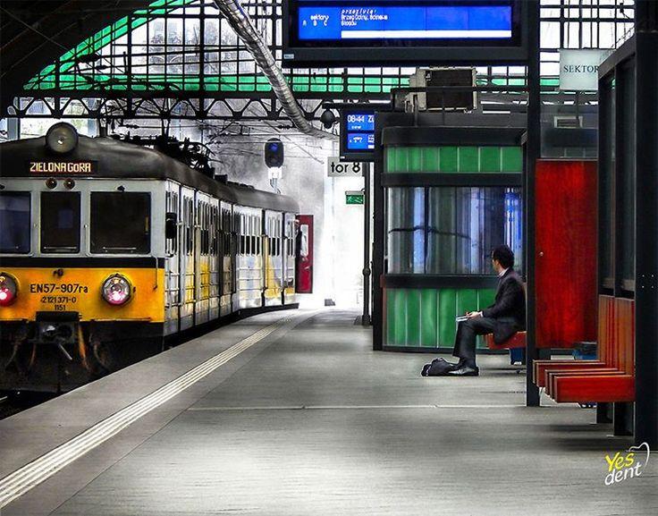 Dworzec PKP we Wrocławiu #wrocław #wroclaw #dworzec #pkp #peron #yesdent