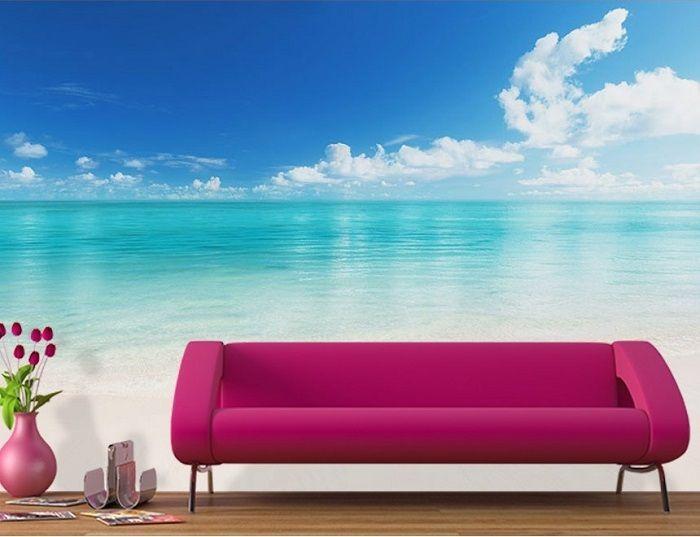 High Definition Beach Scene Home Wallpaper - High Resolution Photo