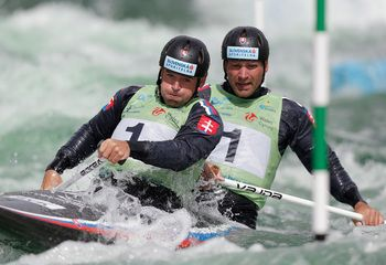Pavol and Peter Hochschorner  from Slovakia are the most decorated athletes in Olympic canoeing history, taking the gold in the Sydney in 2000, in Athens in 2004 and in Beijing in 2008. They were dethroned in the London 2012 games but still took home a bronze.