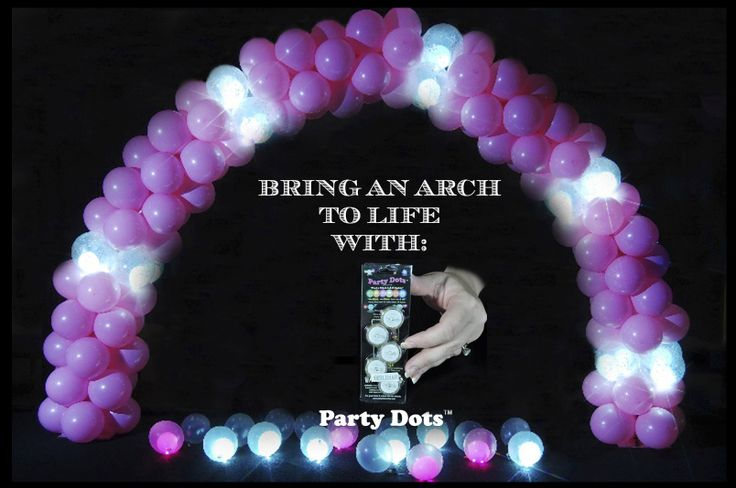Pink Balloon Arch with Sparkle Balls,  Double Stuffed balloons with Party Dots inside.