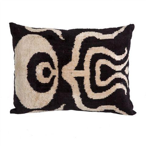 Living Room E   Ikat Velvet Pillow | Uzbekistan