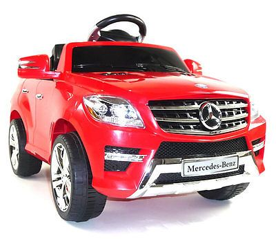 details about mercedes ml350 6v battery powered electric kids ride on childrens toy car rc