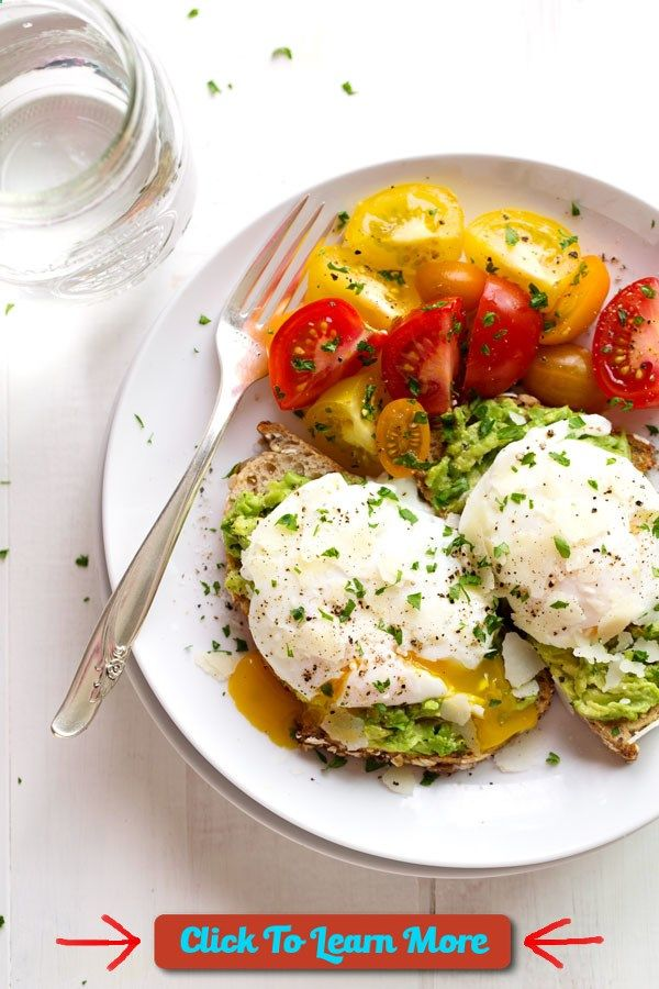 #FastestWayToLoseWeight by EATING, Click to learn more, 7. Simple Poached Egg Avocado Toast , #HealthyRecipes, #FitnessRecipes, #BurnFatRecipes, #WeightLossRecipes, #WeightLossDiets