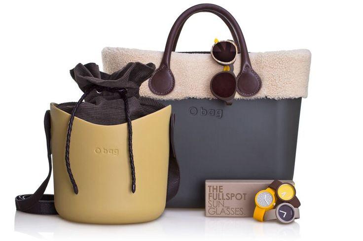 O bag basket + O bag + sunglasses + O clock