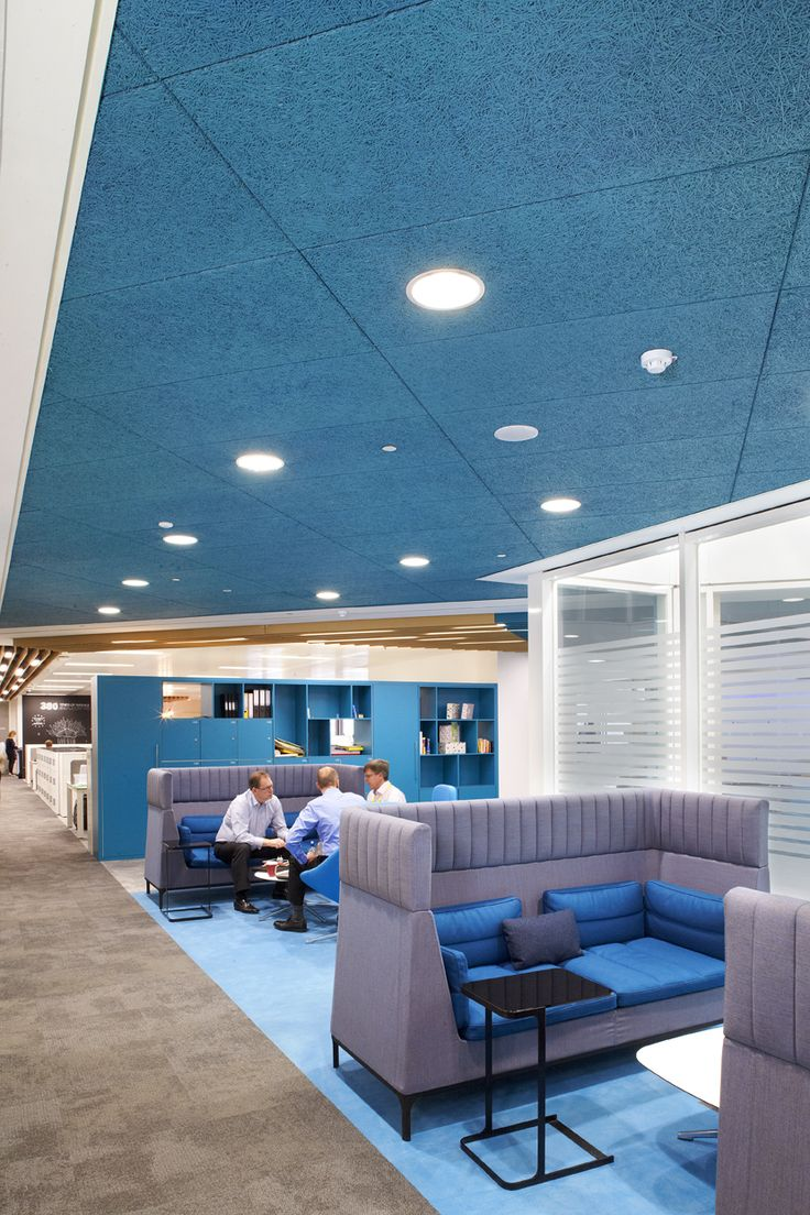 Best 25 acoustic ceiling tiles ideas on pinterest acoustic heradesign acoustic ceiling panels were installed using a concealed dailygadgetfo Gallery