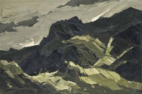 Kyffin Williams (Welsh, 1918-2006), Blaen Ffrancon No. 3. Oil on canvas, 20 x 30 in.