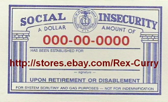 YOU CAN BUY THIS ONE ON E-BAY social security cards | Social Security Cards, Social Security Numbers, Socialism & Socialist ...
