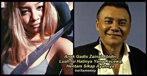 (Mengejutkan) Anak Gadis Zainal Abidin Luah Isi Hatinya Yang Kecewa Hentam Sikap Ayahnya   (Mengejutkan) Anak Gadis Zainal Abidin Luah Isi Hatinya Kecewa Dengan Sikap Ayahnya  Semalam Zainal Abidin ada mendedahkan bahawa dia hanya pasrah dan tidak menyalahkan anaknya iaitu Timur kerana terikut-ikut gaya hidup barat. Baca kenyataan dari Zainal Abidin tentang anaknya itu DI SINI. Hari ini anak gadis Zainal Abidin ini telah tampil memberi respon balas tentang apa yang diperkatakan oleh bapanya…